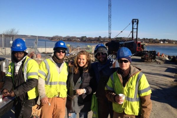 Margo Walsh with crew